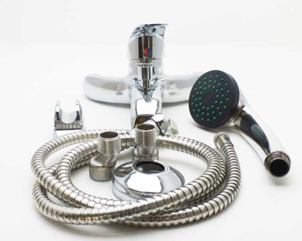 HIQA SILVER BATH SHOWER MIXER